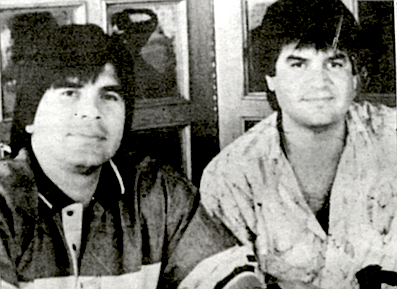 """The most vicious, ruthless criminal organization involved in smuggling drugs into the United States."" Benjamin Arellano Felix (left) and his brother Ramon."