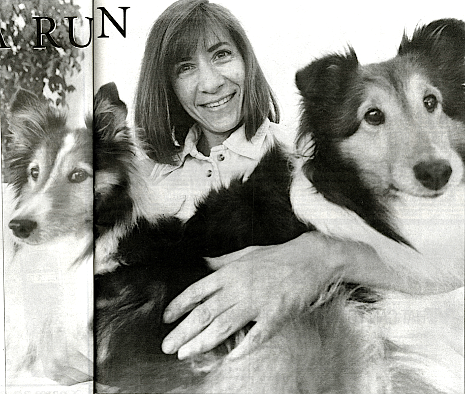 """Cris Mazza with Vixen (left) and Bizzy (right): """"My dog is dying. I've said those four words so many times — too many times — to too many people over the past three months."""""""