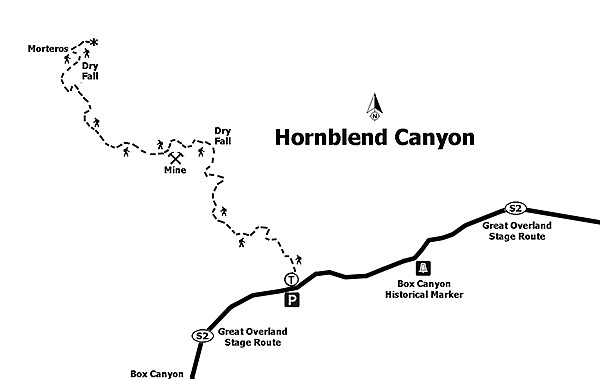 Hornblende Canyon trail map