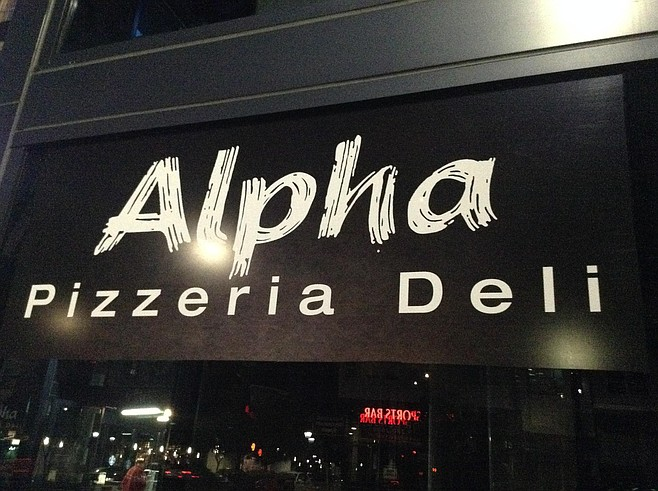 Signs for Alpha are temporary, but the food is up and running.