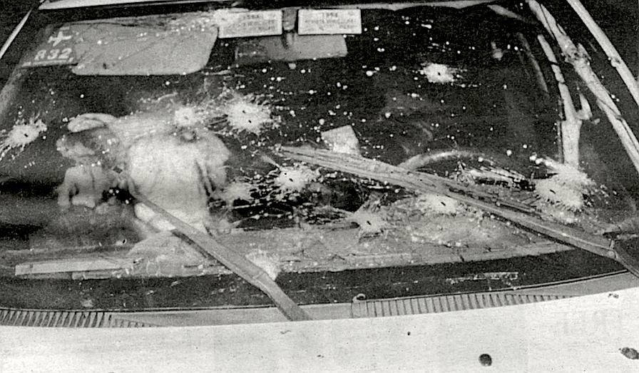 Body of Ernesto Ibarra Santes in taxi, September 14 1996