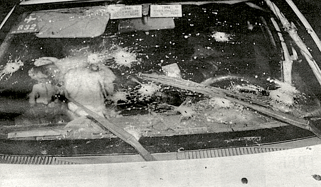 Body of Ernesto Ibarra Santes in taxi, September 14 1996
