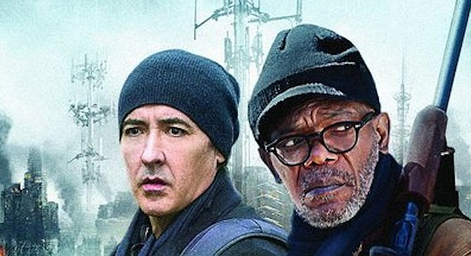 From Cell publicity. Davis sued John Does that had stolen the 2016 movie Cell..