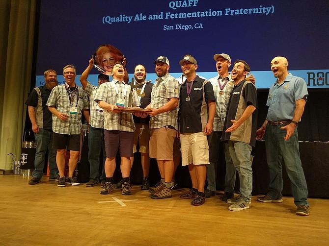 San Diego's Quality Ale and Fermentation Fraternity (QUAFF) wins its second straight national hombrew club award.