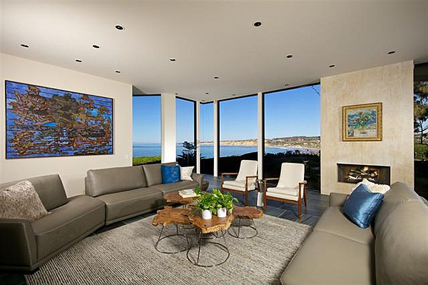 "Living areas offer ""dramatic floor-to-ceiling windows"" facing directly onto the Pacific."