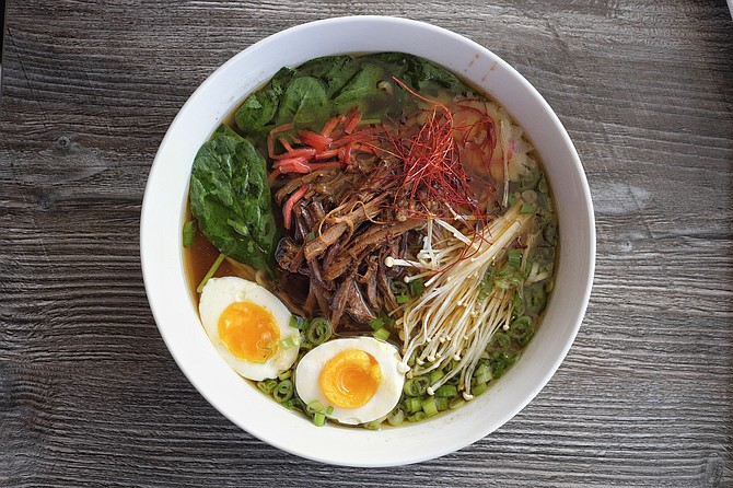 New menu item the MESA Bowl starts off promising but proves to be too sweet for my taste in ramen.