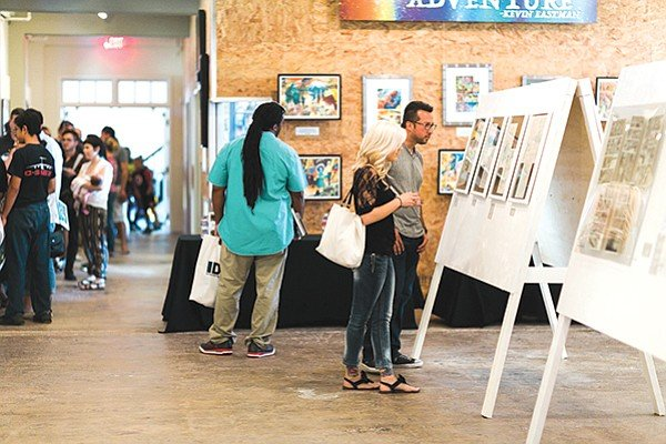 The Friday Night Liberty multimedia art show happens every first Friday from 5–8 p.m. at Liberty Station.