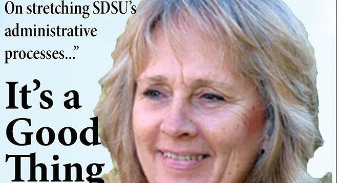 Acting SDSU president Sally Roush is known as a rough-and-tumble campus infighter and hardnosed negotiator.