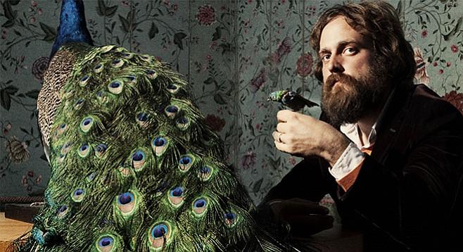 Iron & Wine's principal songwriter Sam Beam sports mountain-man beard