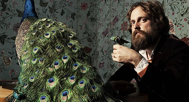 Iron & Wine's principal songwriter Sam Beam sports mountain-man beard