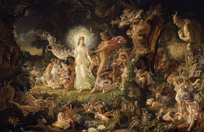 The Quarrel of Oberon and Titania by Joseph Noel Paton