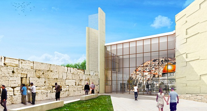Included will be a replica of Israel's Wailing Wall with actual stone from Israel.