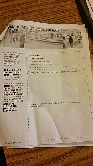 """Worksheet for public. """"One native brought in a photo of an intersection, and another brought a vase."""""""