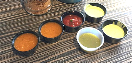 Salsas.  I became overwhelmed by options.