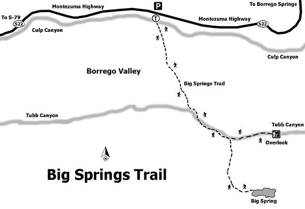 Photo: Big Spring trail map | San Diego Reader