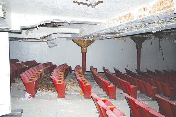 Inside the rotting California Theatre