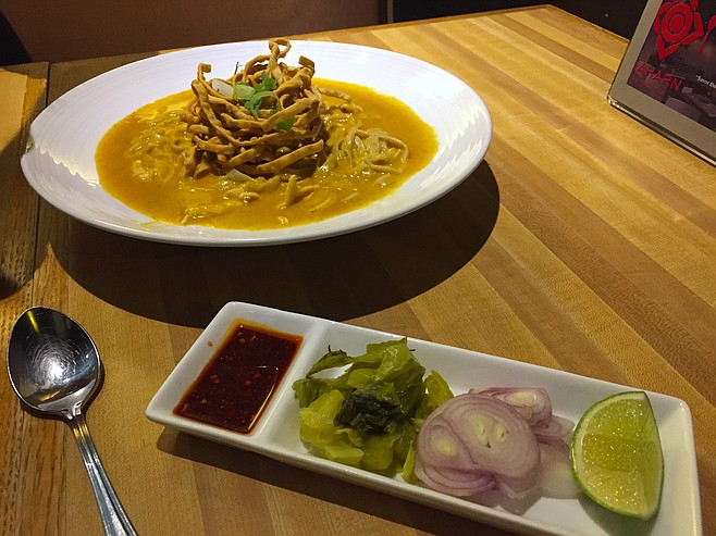 The curry noodles hail from Northern Thailand