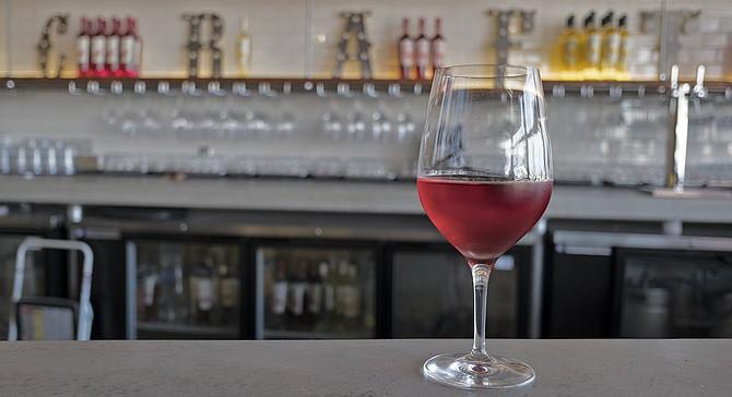 Pomegranate wine served at Fruitcraft