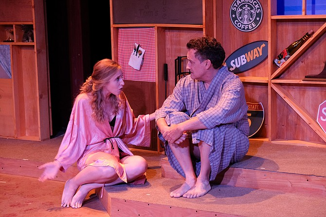Sofia Sassone plays trophy wife Andrea in Scripps Ranch Theatre's Loves and Hours.
