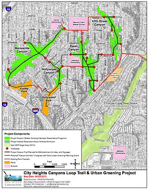 Canyon Loop Trail map showing Manzanita Canyon (click to enlarge)