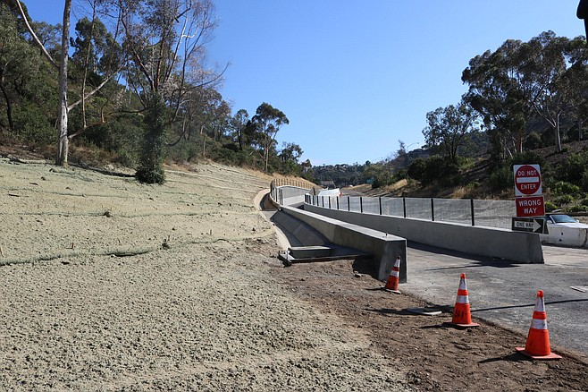 The bikeway ends at Camino Del Rio South in Mission Valley.