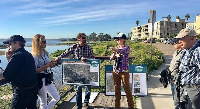 """Rebecca Schwartz Lesberg (pictured here on Audubon Society tour):""""We want to preserve a total of 80 acres, which is about the minimum needed to support our endangered species...."""""""