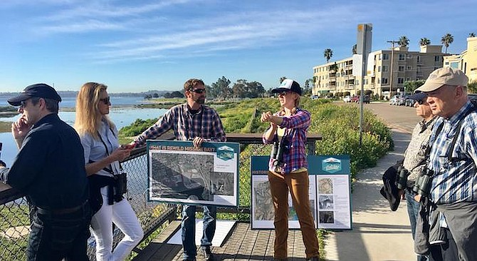 "Rebecca Schwartz Lesberg (pictured here on Audubon Society tour):""We want to preserve a total of 80 acres, which is about the minimum needed to support our endangered species...."" - Image by Photo by Janine Kraus in Audubon California"