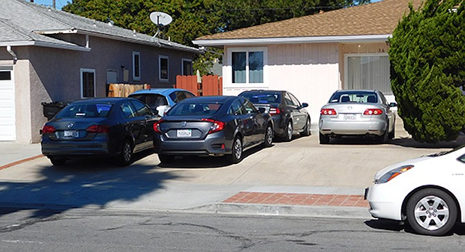 """""""The city fails to discuss the link between the number of occupants  and the number of vehicles."""" - Image by Mission Times Courier"""