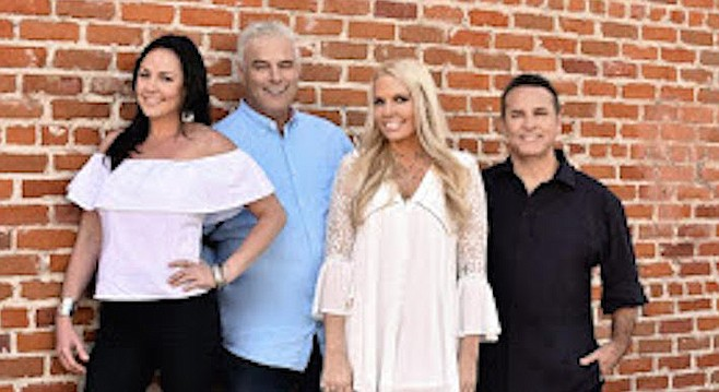 """Jeff Detrow (second from left) says he is """"afraid"""" about Tuesday's layoff of Jeff and the Showgram."""