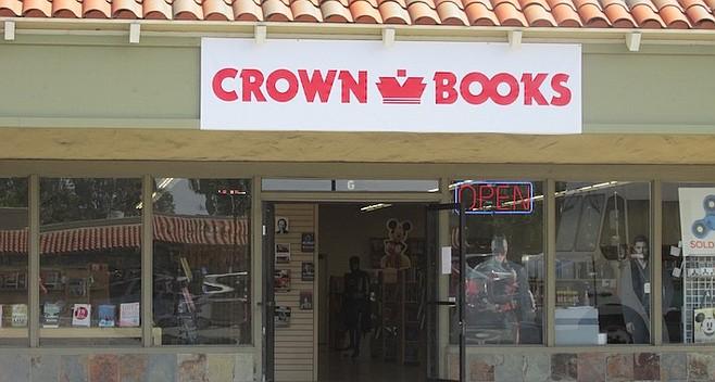 Encinitas Crown Books. No fancy shelves, displays, coffee, or best sellers.