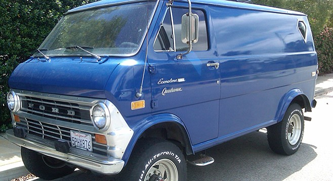 Super sweet vans in which to drive around and smoke weed