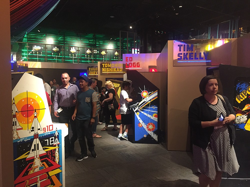 Arcade Heroes, an alley filled with classic arcade games at Fleet Science Center
