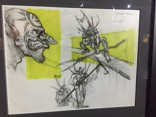 Concept art for one of the video games on display at Fleet Science Center