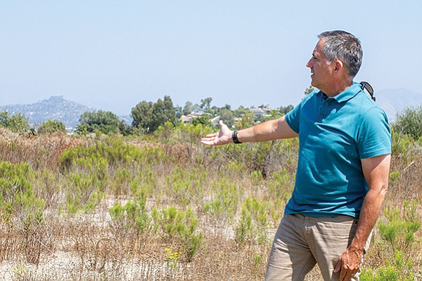 Mark Rawlins was looking to make a park on Pasatiempo Avenue with assessment district funds, but nearby residents opposed it.