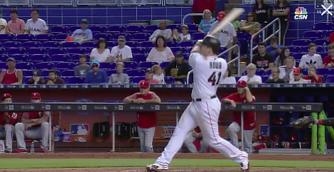 Marlin Justin Bour. Note empty seats.