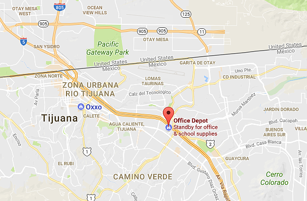Office Depot location in Tijuana. Click to enlarge.