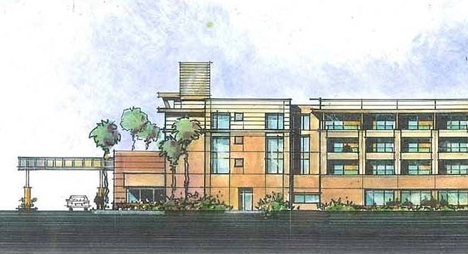 Proposed Sunroad hotel. According to coastal commission staff, only 237 of a total of 8,035 overnight accommodations are low-cost.