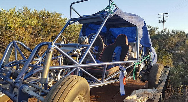 """""""The buggy was in good condition. The lights were taken off and the battery taken out, [but] we should be able to get it back together in a day."""""""