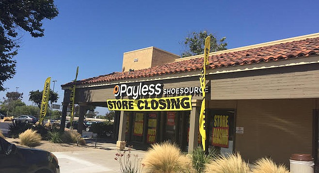 Payless at Southland Plaza in South San Diego