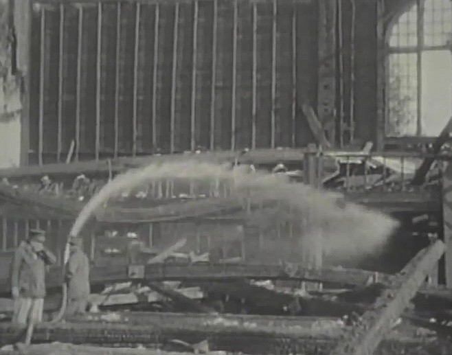 The county's exhibition building burned to the ground in 1925 as firefighters planned to attend their annual ball there that night.
