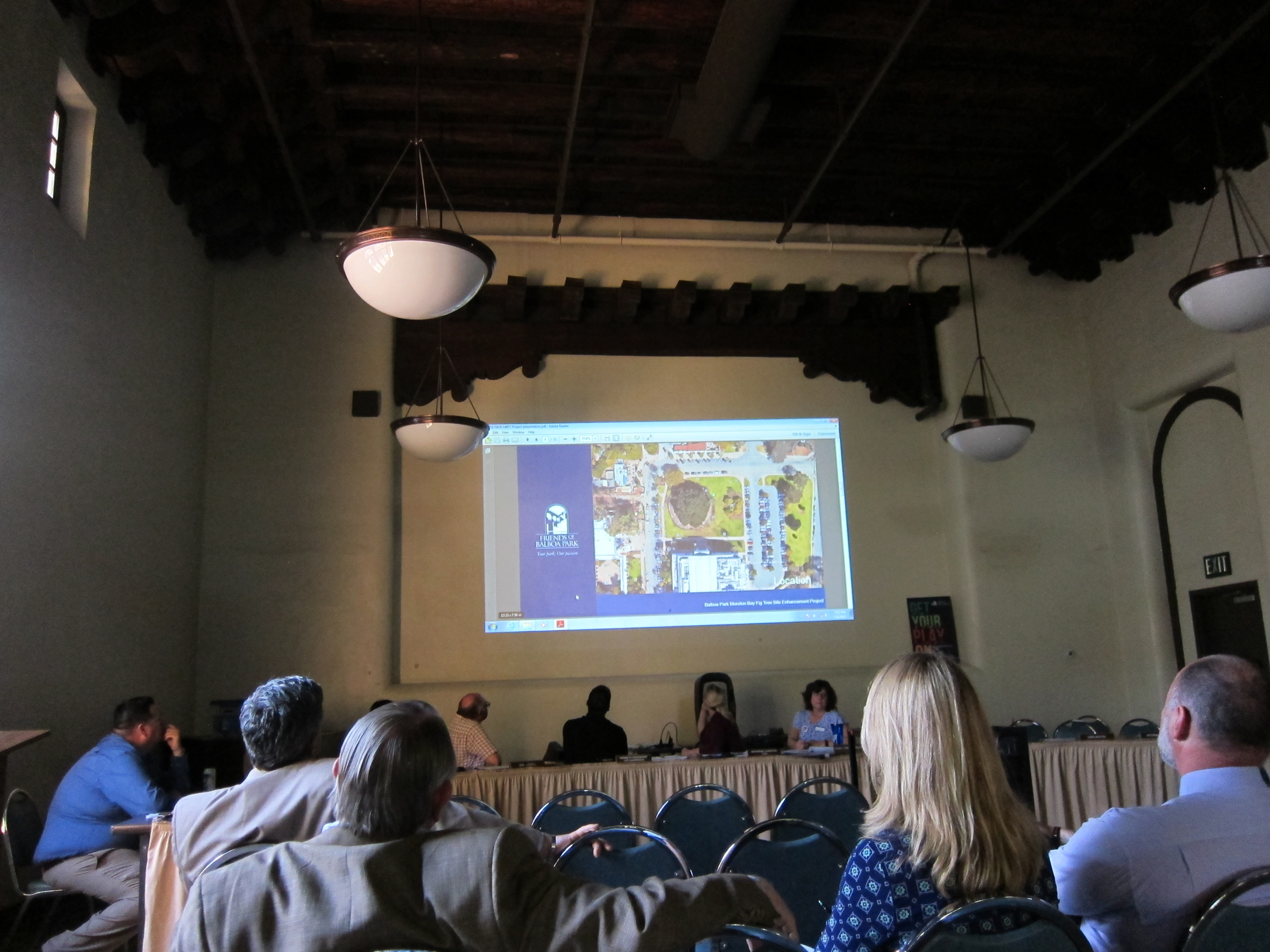 Friends of Balboa Park introduced conceptual drawings for a proposed viewing platform that would open the door to removing the fencing that currently surrounds the tree.