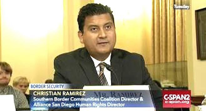 """Ramirez bemoans the """"north of the 8'"""" view of Tijuana."""