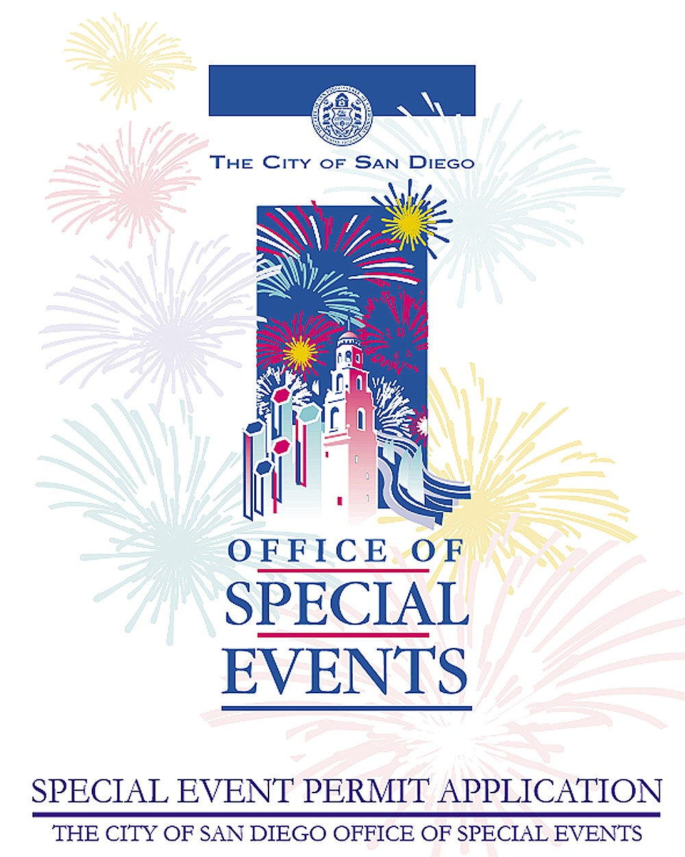 The city's 81 page guide book on special events doesn't mention decibels or noise buffers.