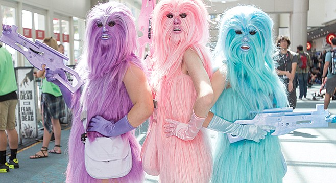 Thursday, July 20: Wookiee-ettes invade Comic-Con