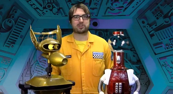 Join Jonah and 'bot buds Crow and Tom Servo for a chucklefest and secret feature at Balboa Theatre on July 21 and 22.