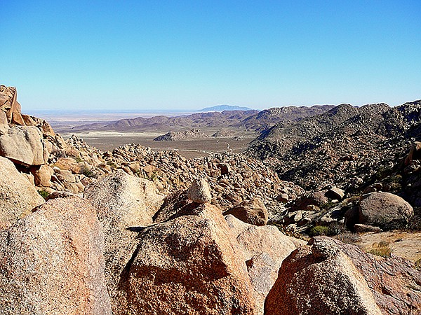 View from top of Mortero Canyon