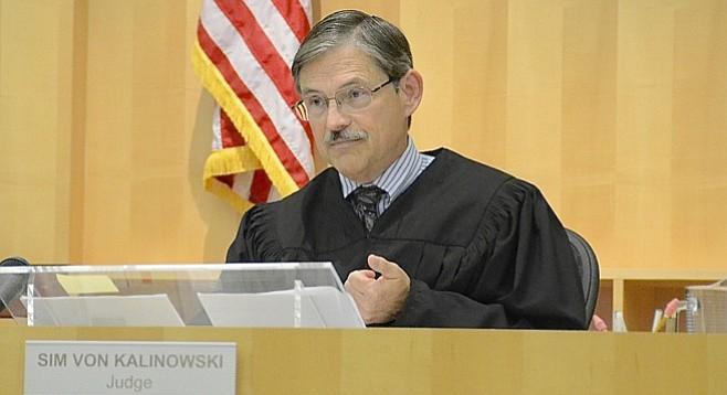 Judge Sim von Kalinowski said the offender could have gotten 13 years in prison.