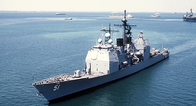 USS Thomas S. Gate, one ship under author's command.