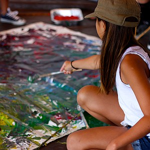 Art workshops for the youngsters at Museum of Contemporary Art San Diego