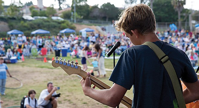 Youth band at Point Loma Park Concert Series
